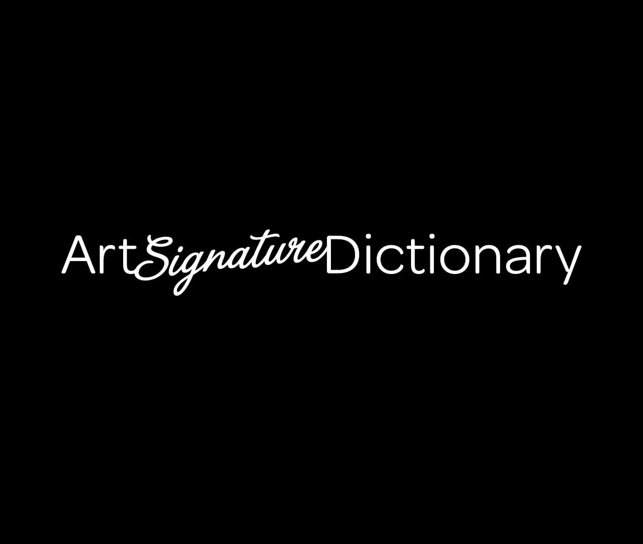 Art Signature Dictionary